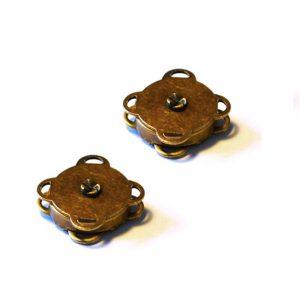 Boutons aimantés à coudre - bronze