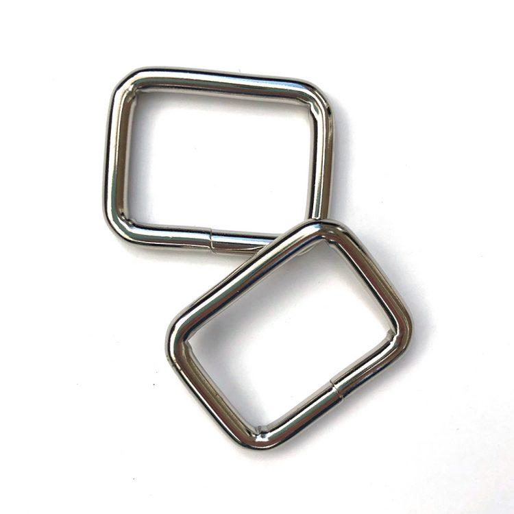 Anneaux Rectangulaires Argenté 28mm