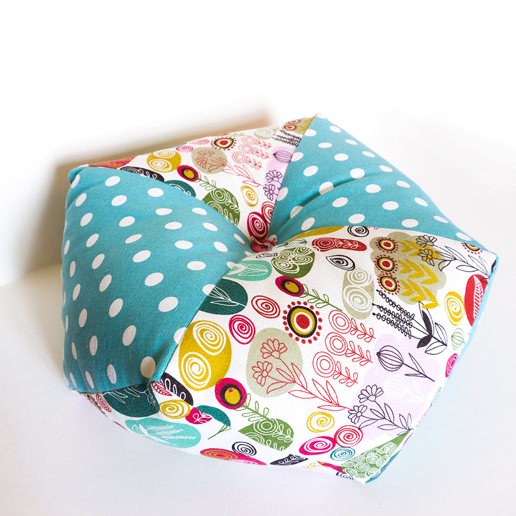 Coussin-Pouf Turquoise